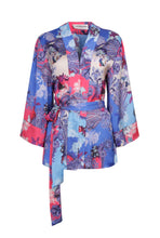 Load image into Gallery viewer, Edie Kimono - Blue/Pink Italian - Short
