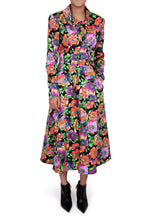 Load image into Gallery viewer, NEW Grace Coat Dress - Black floral crystal
