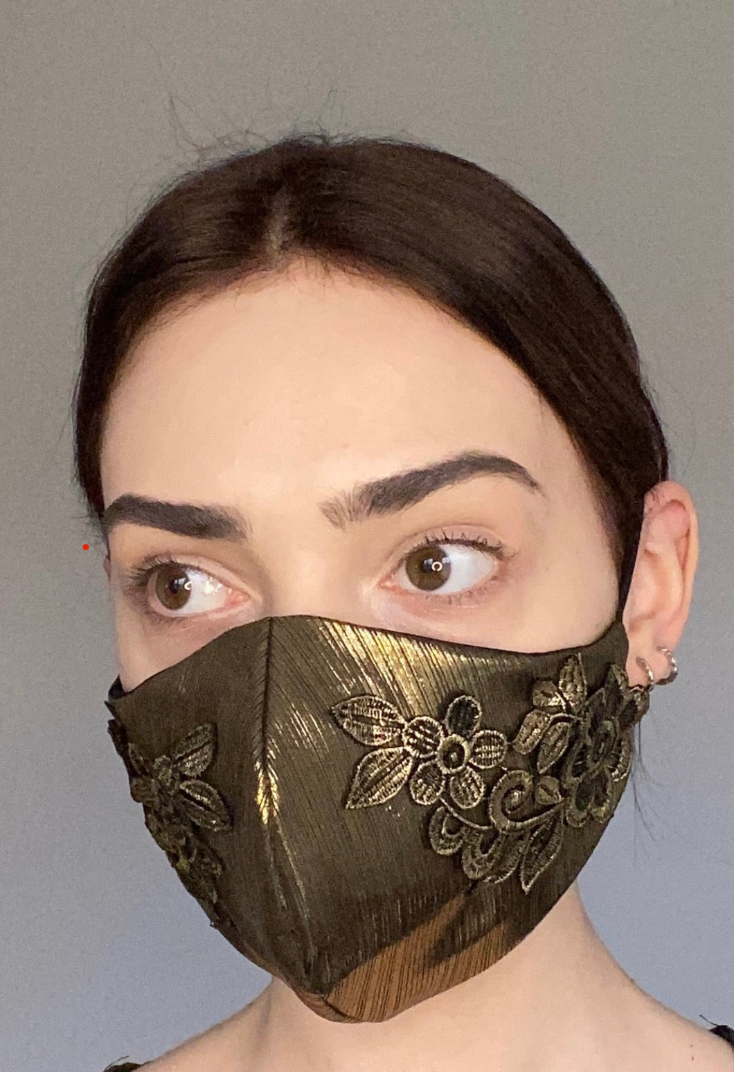 NEW Olivia Face Covering - Gold floral