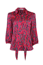 Load image into Gallery viewer, NEW - Ava Shirt - Fuchsia leaf