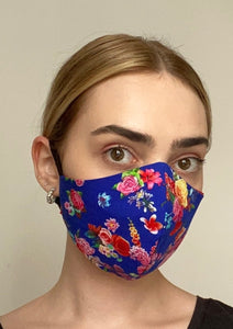 NEW Olivia Face Covering - Blue floral