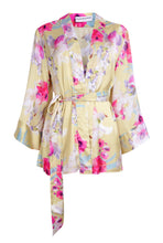 Load image into Gallery viewer, Edie Kimono - Yellow floral - Short