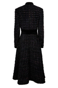 NEW Grace Coat Dress - Black multi tweed