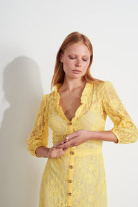 NEW Tallulah Lace Dress - Yellow