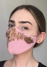 Load image into Gallery viewer, Olivia Face Covering - Pink embellished