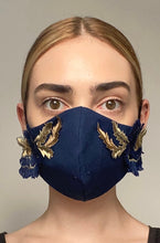 Load image into Gallery viewer, NEW Olivia Face Covering - Navy embellished