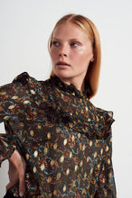 Load image into Gallery viewer, NEW Coco frill top - Metallic multi