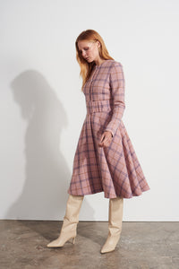 Grace Coat Dress - Pink check