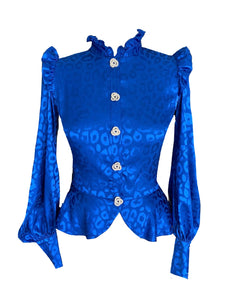 NEW Alexis top - Blue leopard