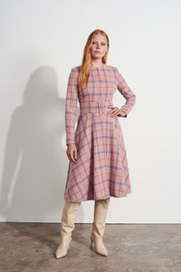 NEW Grace Coat Dress - Pink check