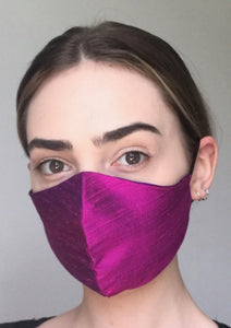 Olivia Face Covering - Magenta silk