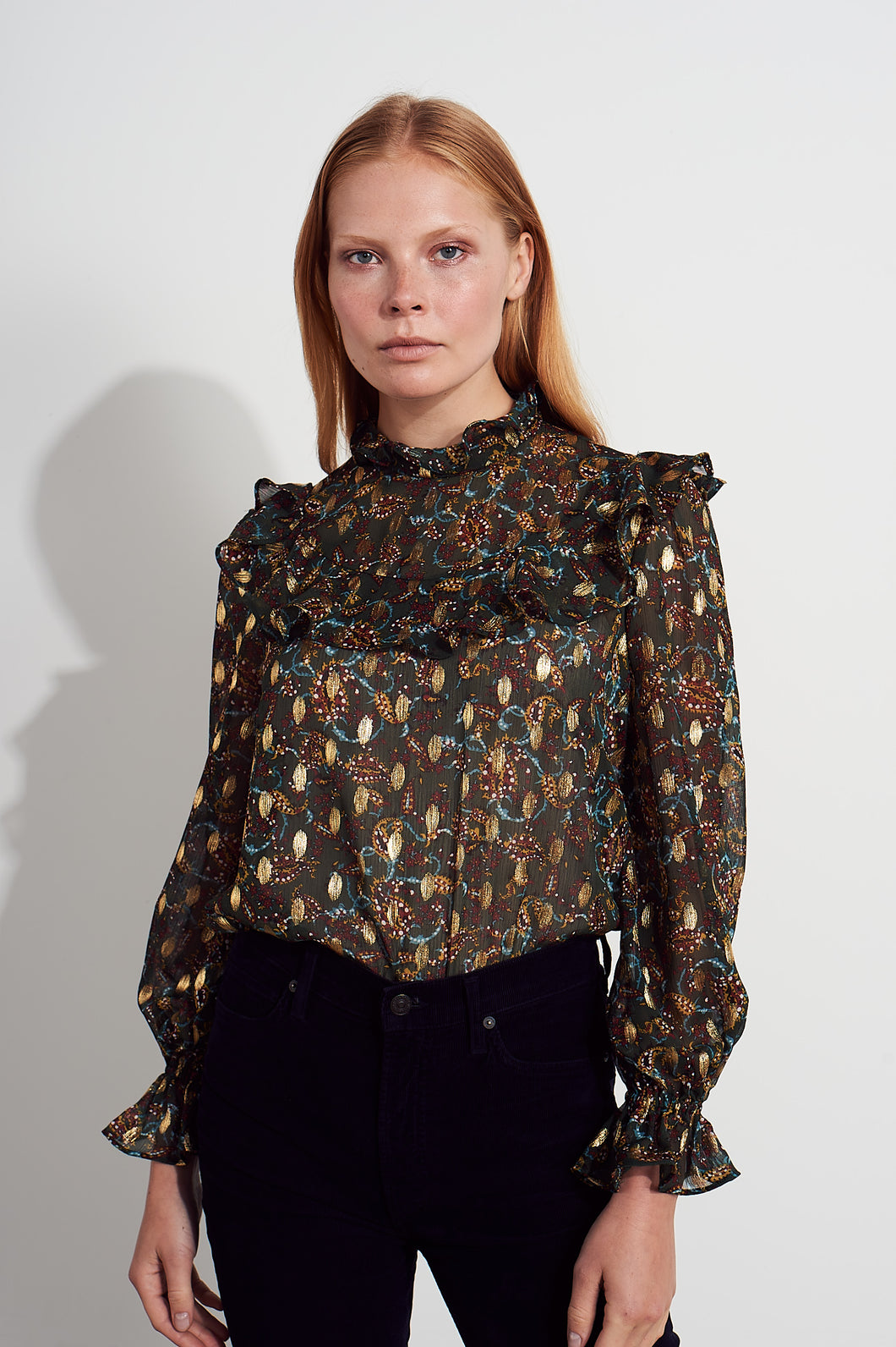 NEW Coco frill top - Metallic multi