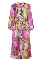 Load image into Gallery viewer, Edie Kimono - Yellow/Pink Italian - Long