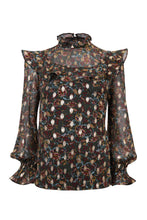 Load image into Gallery viewer, Coco frill top - Metallic multi