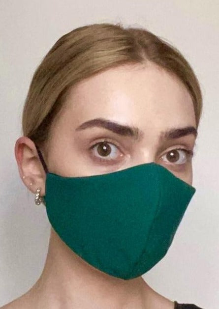 Olivia Face Covering - Forest Green