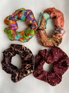 Bella hair scrunchie - Satin print
