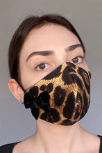 Load image into Gallery viewer, NEW Olivia Face Covering - Leopard bow