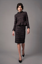 Load image into Gallery viewer, Peplum tweed skirt suit
