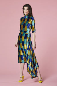 Oblong devore dress