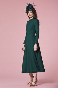 Forest crepe coat dress