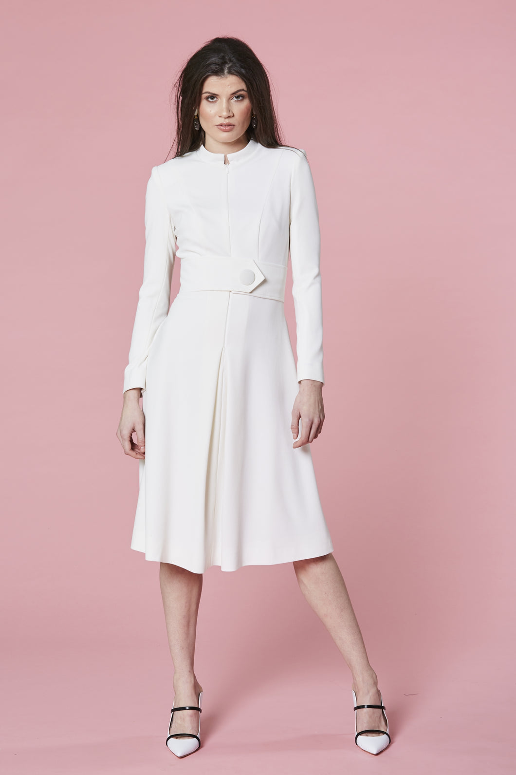 Pleat Coat Dress