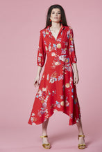 Load image into Gallery viewer, Red floral dress