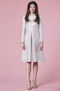SOLD OUT - Ivory & gold jacquard dress