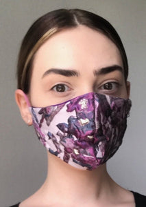 Olivia Face Covering - Lilac embossed