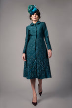 Load image into Gallery viewer, Teal pleat coat
