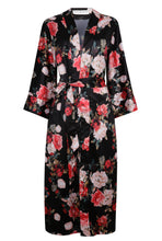 Load image into Gallery viewer, Edie Kimono - Black Rose - Long
