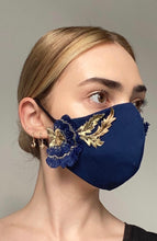 Load image into Gallery viewer, Olivia Face Covering - Navy embellished