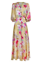 Load image into Gallery viewer, NEW Cici button dress - Yellow floral