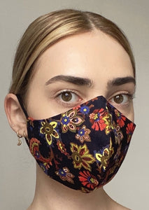 NEW Olivia Face Covering - Black Mandala