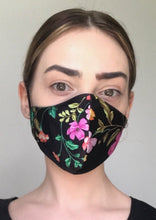Load image into Gallery viewer, Olivia Face Covering - Black floral