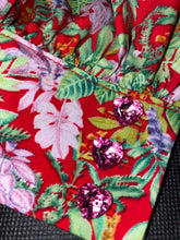 Load image into Gallery viewer, NEW Jemima frill top - Red/Pink floral
