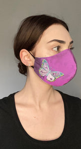 NEW LTD Olivia Face Covering - Pink butterfly