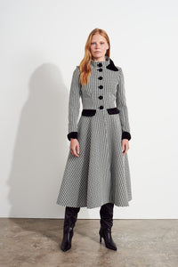 NEW Kristen Coat Dress - Black/Ivory
