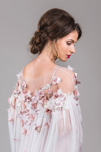 Ivory floral cape