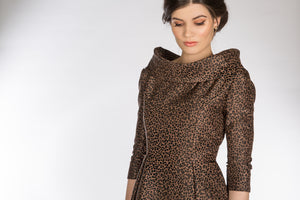 Leopard Print Coat Dress