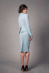 Peplum Bow Suit