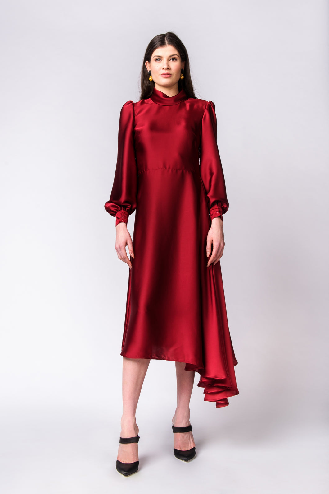 Wine Isobel dress