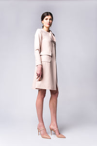 Blush Bow Coat