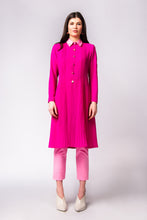 Load image into Gallery viewer, Fuchsia pleat georgette coat