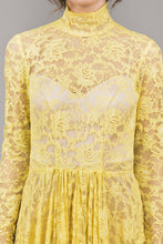 Load image into Gallery viewer, Canary yellow lace overlay