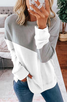 Gorgegal Patchwork Grey Sweatshirt