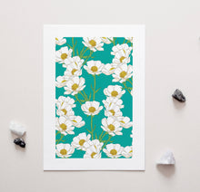 Load image into Gallery viewer, Mt Cook Buttercup NZ Native Flowers - A4 Unframed Art Print