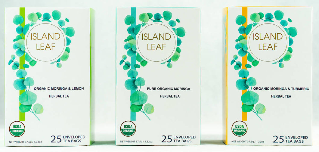 Organic Moringa Tea Trio Pack