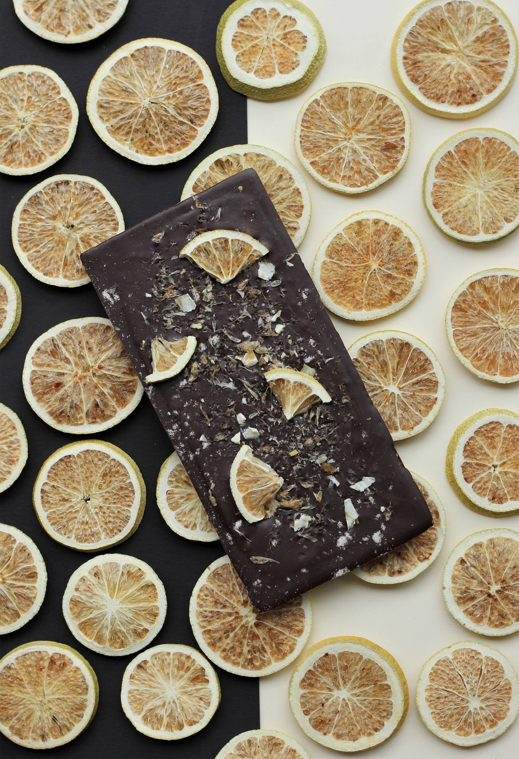 Dark lime salt chocolate bar