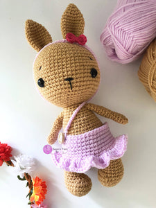Crochet Bunny Soft Toy With Removable Outfits