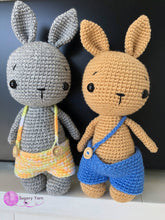 Load image into Gallery viewer, Crochet Bunny Soft Toy With Removable Outfits